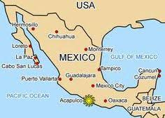map of mexico yucatan region map of mexico acapulco major tourist attractions maps