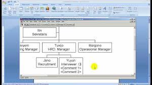 membuat struktur organisasi yang menarik cara membuat struktur organisasi menggunakan ms office youtube