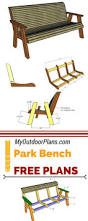 Woodworking Plans Park Bench Free by 114 Best Free Garden Bench Plans Images On Pinterest Garden