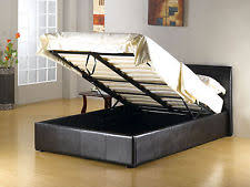 Black Leather Sleigh Bed Faux Leather Sleigh Bed Frames Ebay