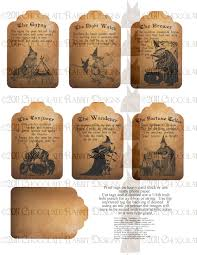 Vintage Halloween Fabric Vintage Halloween Witch Fortune Teller Tag Digital Download