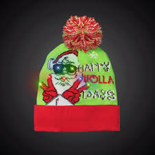 Knit Cap With Led Light Happy Holla Days Led Knit Hat Beanie