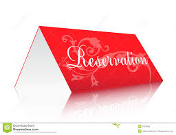 reservation sign stock vector image of reserved communication