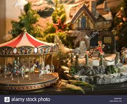 scenery with decorations with a merry go house