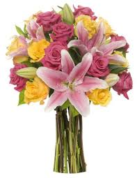 roses and lilies benchmark bouquets big blooms with roses and lilies s