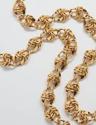 vintage gold chain necklace images Link chain necklace clipart jpg
