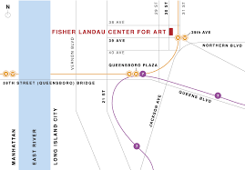 Subway Map Directions by Fisher Landau Center For Art Directions