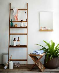 Bathroom Storage Ladder Bathroom Furnishing Using Cross Teak Wood Bathroom Stool Storage