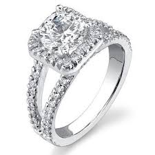 square engagement rings with halo square halo split shank 62 micro pave set engagement ring