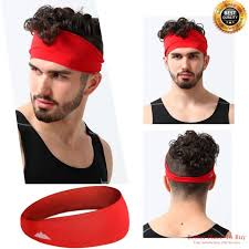 sports headband mens sports headband guys elastic thin sweatband for running