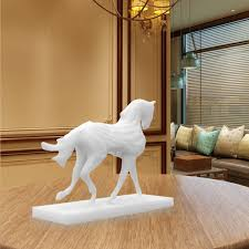 sculpture home decor best and cheap white tomfeel 3d printed sculpture running horse