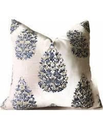 great deals on duralee kedara tree pillow cover in blue and green