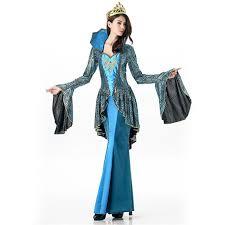 2017 medieval queen deluxe halloween costume renaissance blue