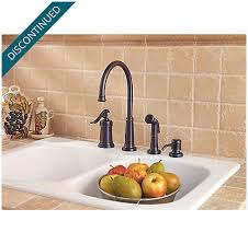 price pfister ashfield kitchen faucet tuscan bronze ashfield 1 handle kitchen faucet gt26 4ypy