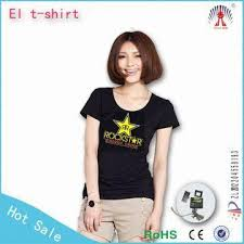 custom light up t shirts el light up t shirt wholesale custom design sound activated