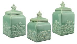 Glass Kitchen Canisters Entrancing 80 Blue Kitchen Canister Sets Design Inspiration Of