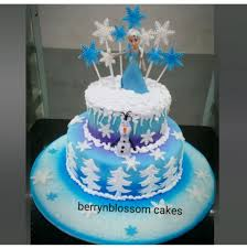 cake tier 2kg 2 tier fondant frozen theme cake at rs 3950