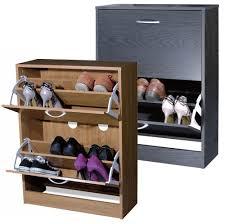 small entryway closed shoe rack storage with 2 drawer for small