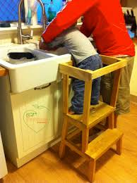 an ikea stool is easy to convert to a kitchen helper and for a