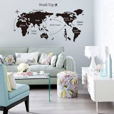 wall sticker world travel trip map being a traveler