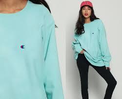 champion sweatshirt 90s pastel plain crewneck pullover baby