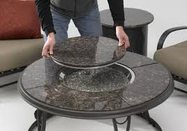 large propane fire pit table patio ideas round propane fire pits table with colorful ceramic