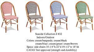 Blue Bistro Chairs Green Creme Bistro Alum Chair Outdoor Weave Porch