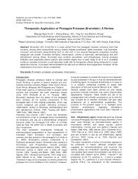 therapeutic application of pineapple protease bromelain a