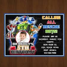 transformer rescue bots party supplies transformer rescue bots birthday invitation transformer bday