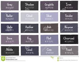 grey tone color shade background with code and name stock vector