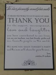 wedding memorial wording wedding thank you sayings gallery of wedding program thank you