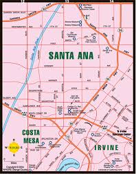 Los Angeles Area Map by Map Of Costa Mesa Irvine Santa Ana