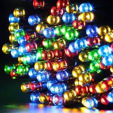 gdealer solar string lights 72feet 200 led 2 modes solar powered