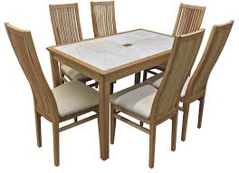 AnBerCraft The Beaumont Dining Range - Tile top kitchen table and chairs