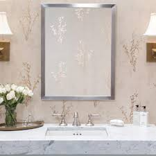 Metal Framed Mirrors Bathroom Projects Idea Of Metal Framed Mirrors Bathroom