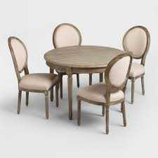 natural linen paige round back dining chairs set of 2 world market