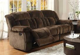 Microfiber Reclining Sofa Sets Homelegance Laurelton Reclining Sofa Set Chocolate Textured
