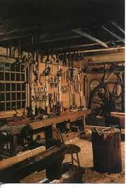 old dominy clock shop and woodworking shop with all their