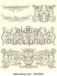 vector set of vintage ornaments flourishes with floral elements on