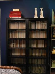 small bookcase with glass doors bookshelf little house design