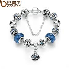 silver plated snake chain bracelet images Silver plated snake chain charm bracelets bangles with safety jpg