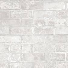 i love wallpaper metallic brick wallpaper white ilw980075