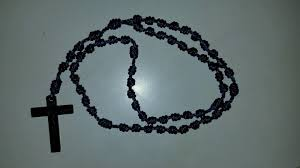 rosary twine handmade knotted rosary twine plastic crucfix st michael