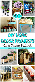diy home decor projects on a budget 40 diy home decor projects on a cheap budget diy crafts