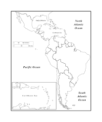 Blank North America Map by Maps Of The Americas Page 2