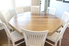 making a dining room table diy octagon dining room table with a farmhouse base make it and