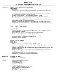 social worker resume exles hospice social worker resume sles velvet