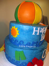 pool themed cakes beach ball themed pool party u2014 children u0027s