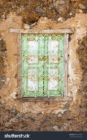 ornate window moroccan adobe house oued stock photo 342974567