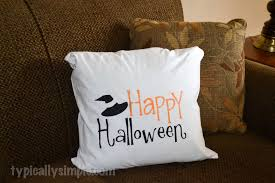 halloween pillow cover using a freezer paper stencil typically